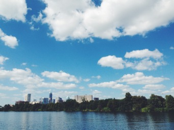 View from the Boardwalk (Lady Bird Lake east side loop)